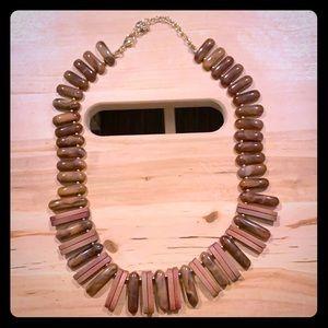 Tortoiseshell and Wood Beaded Necklace